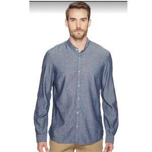 NWT JOHN VARVATOS Men's Denim long sleeve shirt